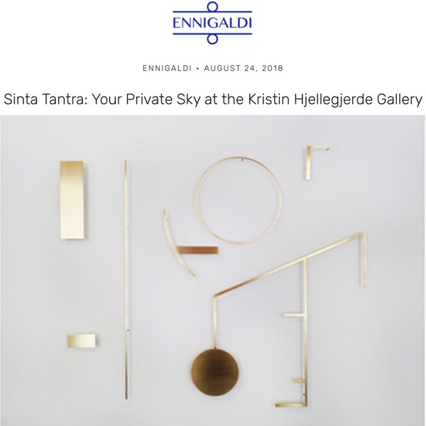 Sinta Tantra: Your Private Sky at Kristin Hjellegjerde Gallery