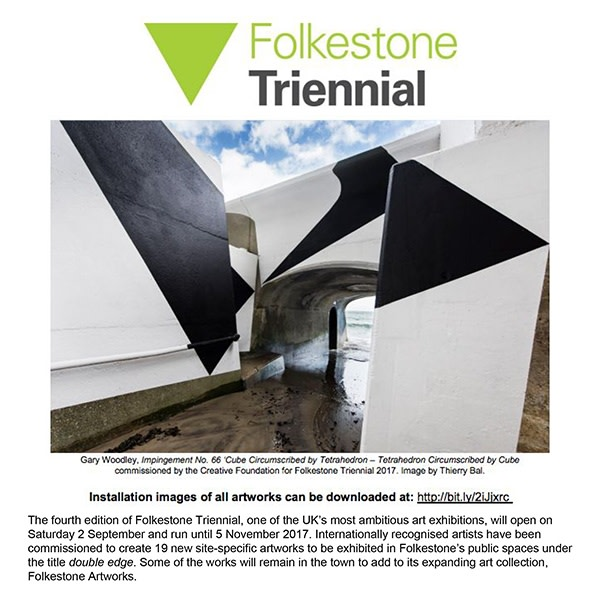 Press Release: Folkstone Triennial, double edge