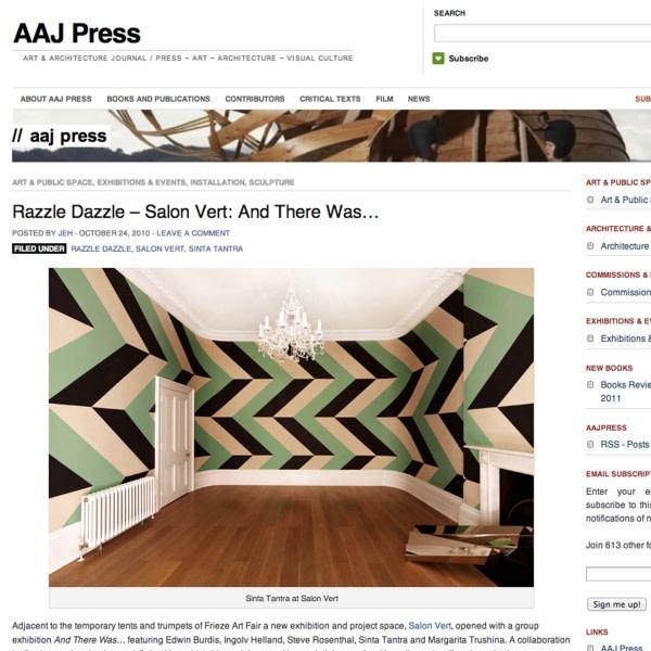 Razzle Dazzle - Salon Vert: And There Was...