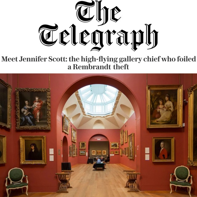 Meet Jennifer Scott: the high-flying gallery chief who foiled a Rembrandt theft