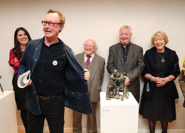 Mick O'Dea proudly displays his #VOTEMICHAELD badge!