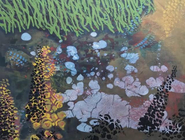 Creek, oil on panel, 46 x 61 cm