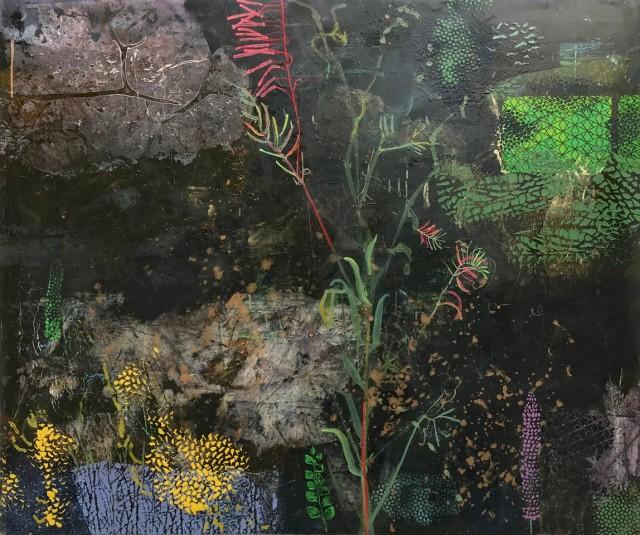 Downstreams, oil on canvas, 100 x 120 cm
