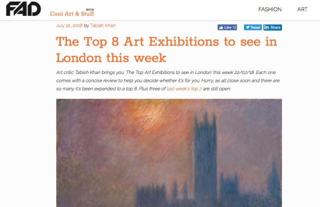 The Top 8 Art Exhibitions to see in London this week