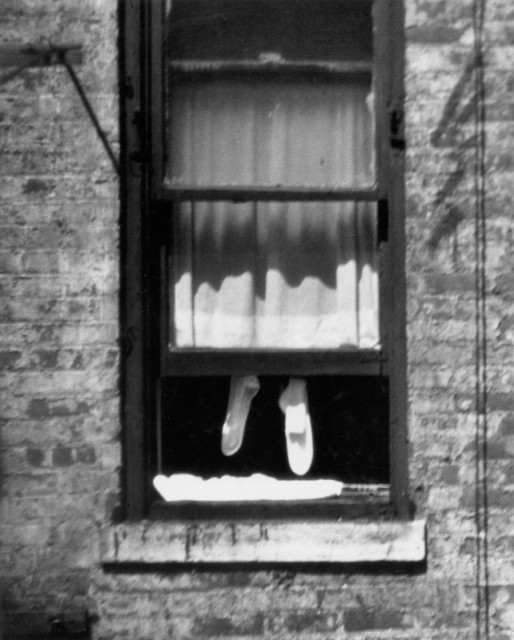 New York [Socks hanging in window], July 26, 1960 © The Estate of André Kertész, New York
