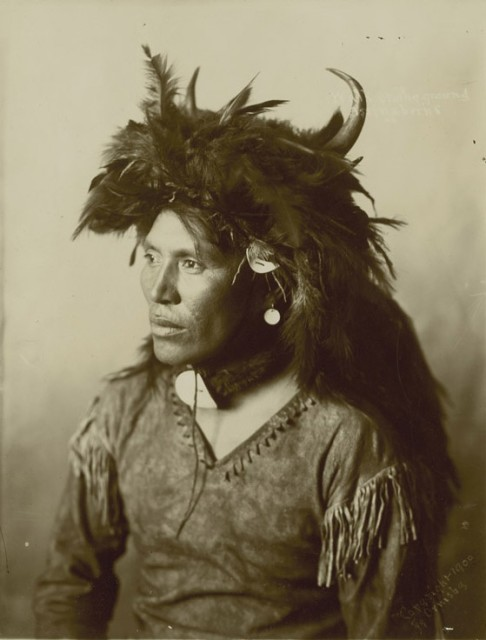 S.W. Ormsby circa 1900 'Walks on the Ground', Assiniboine, circa 1900 Attributed, on negative Printed circa 1900 Toned gelatin silver print 8 1/2 x 6 1/2 in 21.59 x 16.51 cm