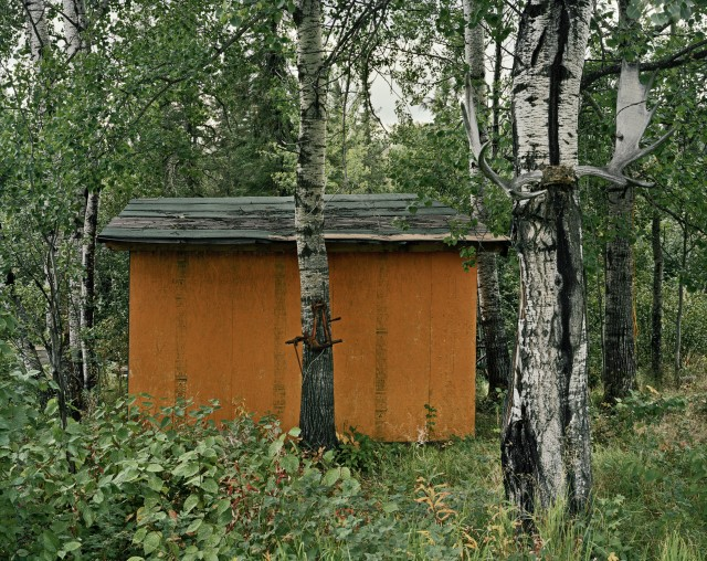 Joseph Hartman b. 1978Orange Shed, Collins, ON, 2010 Signed, titled, dated and editioned, in ink, au mount verso Printed in 2011 Chromogenic print mounted to 34 x 41 inch (86.36 x 104.14 cm) archival board 27 x 34 in 68.58 x 86.36 cm Edition of 9