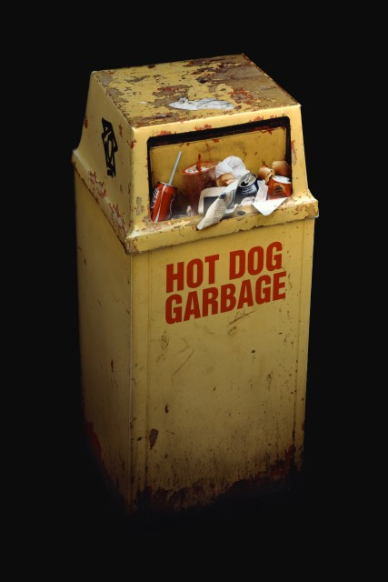 Anthony Koutras 1979- Hot Dog Garbage, 2010 Signed, titled, dated and editioned, ink, au mount verso Printed in 2010 Chromogenic print flush mounted to dibond 60 x 40 inch (152.40 x 101.60 cm) Edition of 1