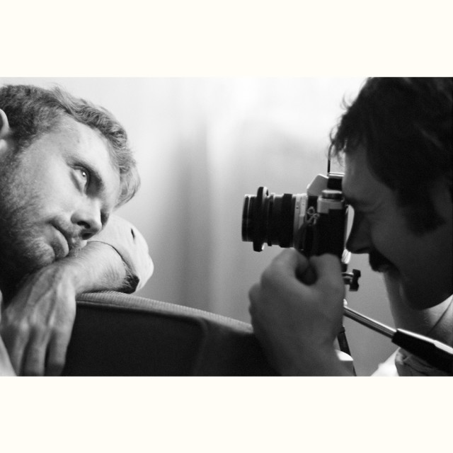 Gerry and Wayne with a camera, circa 1974 © Sunil Gupta