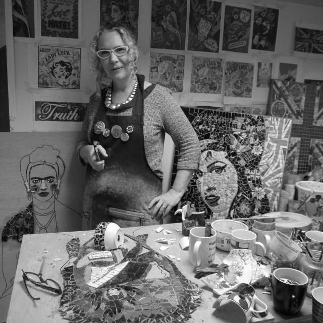 Susan at work in her studio