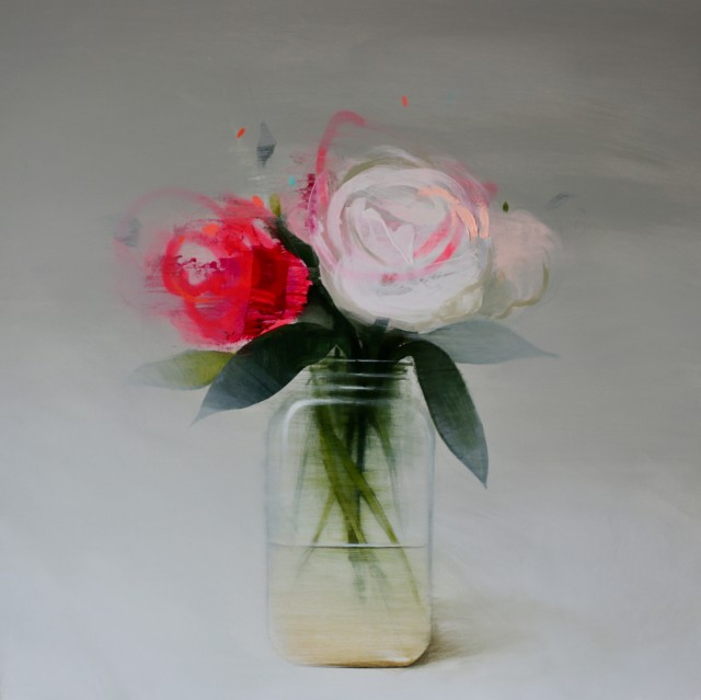 Fran Mora, Flowers - Pink & White, 2017