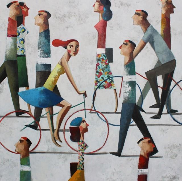 I See You, 120 x 120 cm By Didier Lourenço