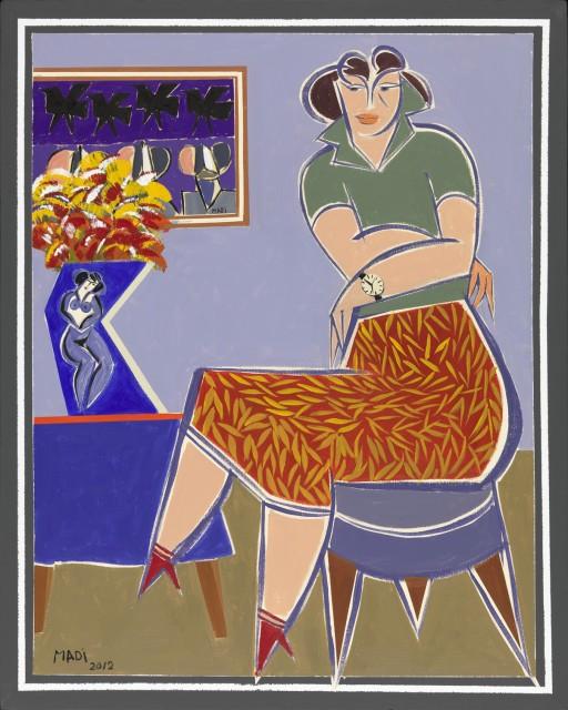 Untitled, 2002 Acrylic on Canvas 130 x 90 cm