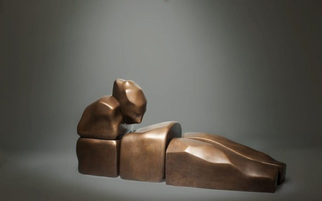 Self Assembling, 2019 bronze 100 X 30 X 35. 1/4