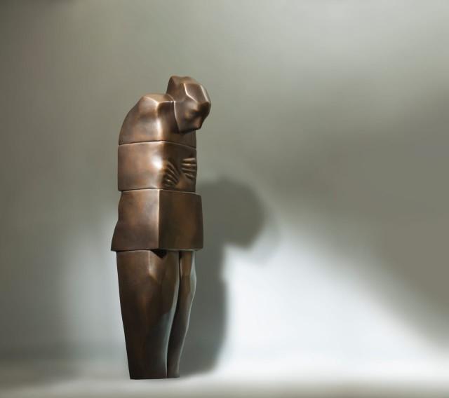 The Meditator, 2019 Bronze, 100 X 30 X 35. 1/4