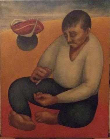 Louay Kayyali, Untitled 1976, Mixed media on board, 73x93