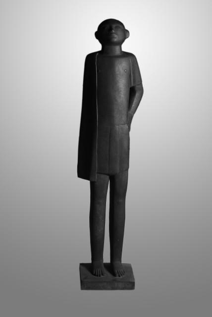 Adam Henein - Worker,148x30x26cm. bronze produced in cairo 1957