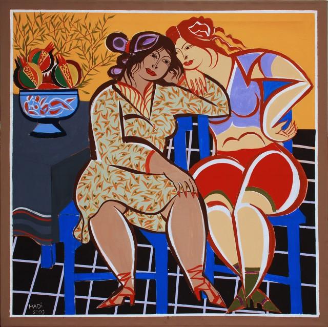 Hussein Madi, Untitled, 130x130, 2009, acrylic on canvas