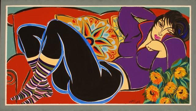 Hussein Madi, Untitled, 80 x 140, 2008, acrylic on canvas
