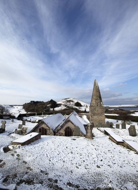 St Enodoc Snow Charity Christmas Card
