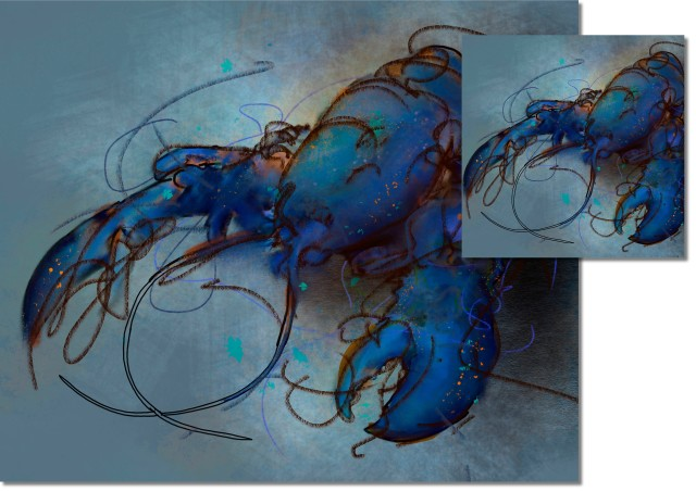 Blue Lobster HIGH GLOSS CORK BACKED COASTERS & PLACEMATS