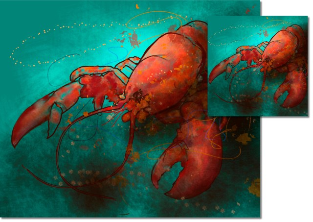 Red Lobster HIGH GLOSS CORK BACKED COASTERS & PLACEMATS