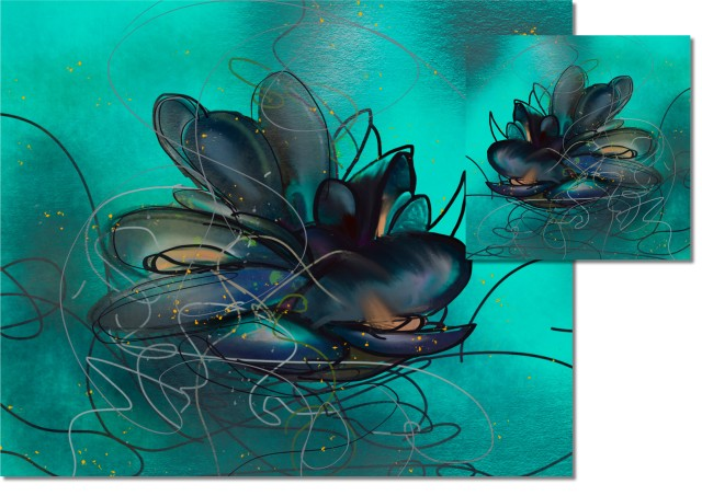 Aqua Mussels, HIGH GLOSS CORK BACKED COASTERS & PLACEMATS