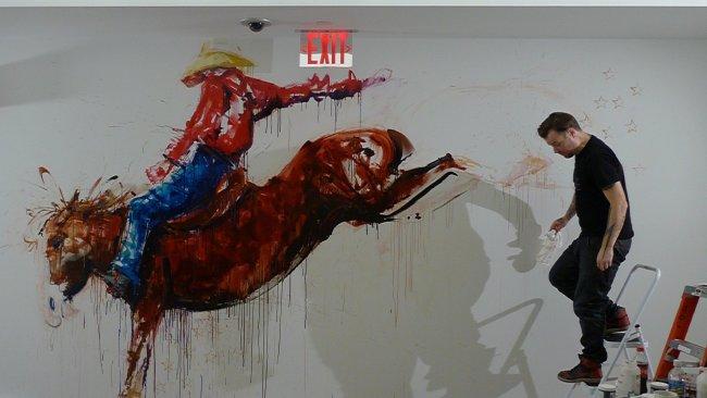 Aol New York Mural