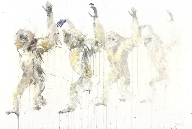 'Gibbon Movement' Watercolour on Arches Aquarelle, 61