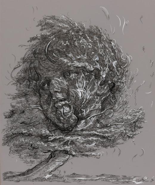 Drawing 4 (after De Gheyn II/Greuze)