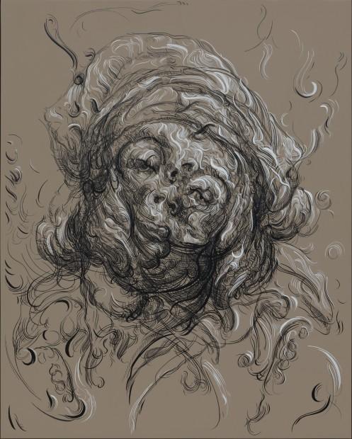 <span class=&#34;artist&#34;><strong>Glenn Brown</strong></span>, <span class=&#34;title&#34;><em>Poor Moon</em>, 2016</span>