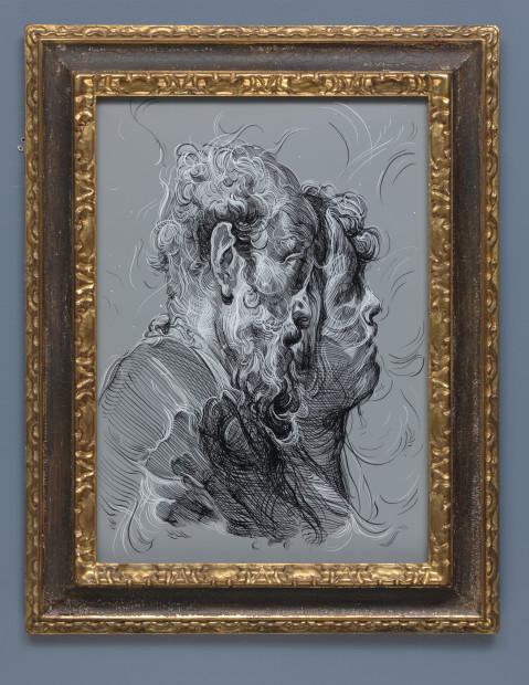 <span class=&#34;artist&#34;><strong>Glenn Brown</strong></span>, <span class=&#34;title&#34;><em>Drawing 15 (after Gandolfi) </em>, 2017</span>