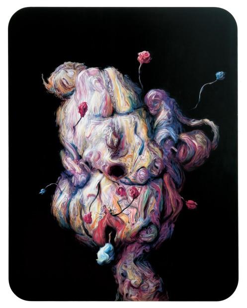 <span class=&#34;artist&#34;><strong>Glenn Brown</strong></span>, <span class=&#34;title&#34;><em>International Velvet</em>, 2004</span>