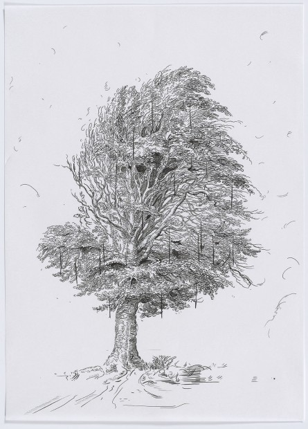 <span class=&#34;artist&#34;><strong>Glenn Brown</strong></span>, <span class=&#34;title&#34;><em>Drawing 29 (after De Gheyn II)</em>, 2015</span>