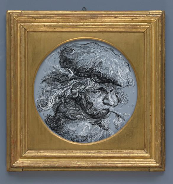 <span class=&#34;artist&#34;><strong>Glenn Brown</strong></span>, <span class=&#34;title&#34;><em>Drawing 14 (after Castiglioni)</em>, 2017</span>