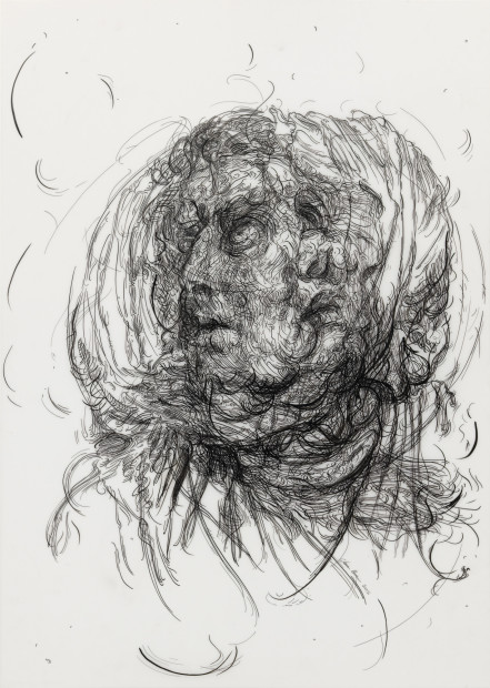 <span class=&#34;artist&#34;><strong>Glenn Brown</strong></span>, <span class=&#34;title&#34;><em>Drawing 7 (after Greuze/Greuze)</em>, 2017</span>