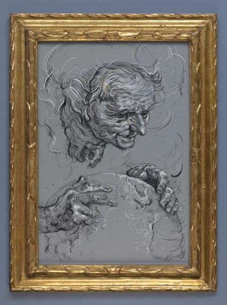 <span class=&#34;artist&#34;><strong>Glenn Brown</strong></span>, <span class=&#34;title&#34;><em>Drawing 4 (after Bloemaert)</em>, 2018</span>