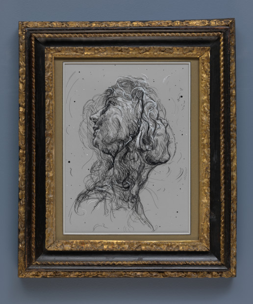 <span class=&#34;artist&#34;><strong>Glenn Brown</strong></span>, <span class=&#34;title&#34;><em>Drawing 12 (after Batoni/Del Sarto)</em>, 2017</span>