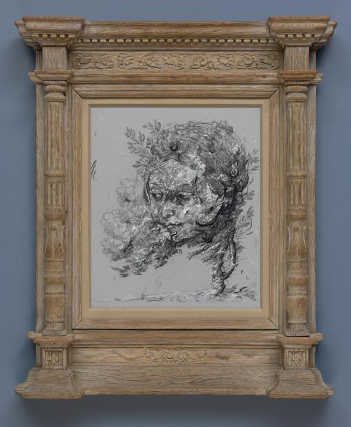 <span class=&#34;artist&#34;><strong>Glenn Brown</strong></span>, <span class=&#34;title&#34;><em>Drawing 13 (after Grimaldi/Reni) </em>, 2017</span>