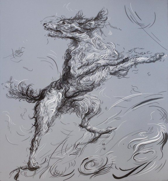 <span class=&#34;artist&#34;><strong>Glenn Brown</strong></span>, <span class=&#34;title&#34;><em>Drawing 15 (after Snyders) </em>, 2017</span>