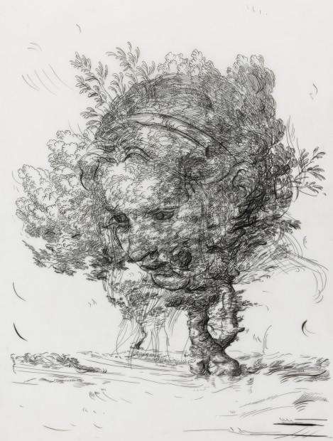 <span class=&#34;artist&#34;><strong>Glenn Brown</strong></span>, <span class=&#34;title&#34;><em>Drawing 6 (after Greuze/De Gheyn II)</em>, 2017</span>