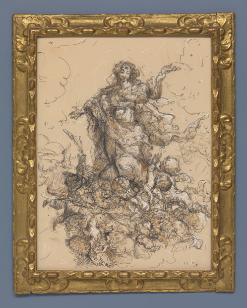 <span class=&#34;artist&#34;><strong>Glenn Brown</strong></span>, <span class=&#34;title&#34;><em>Drawing 23 (after Murillo/Murillo) </em>, 2018</span>