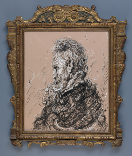 <span class=&#34;artist&#34;><strong>Glenn Brown</strong></span>, <span class=&#34;title&#34;><em>Drawing 17 (after Rembrandt)</em>, 2017</span>