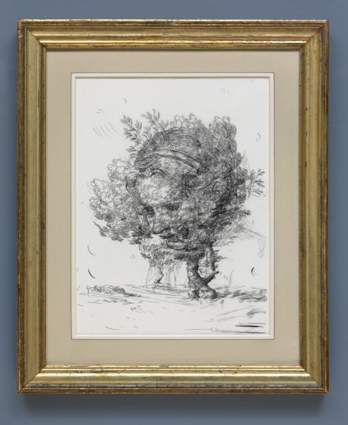 <span class=&#34;artist&#34;><strong>Glenn Brown</strong></span>, <span class=&#34;title&#34;><em>Drawing 6 (after De Gheyn II/Greuze)</em>, 2017</span>