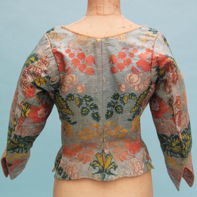 Rare 18th century woven silk brocade caraco