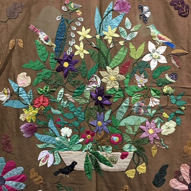 1830's applique beadspread