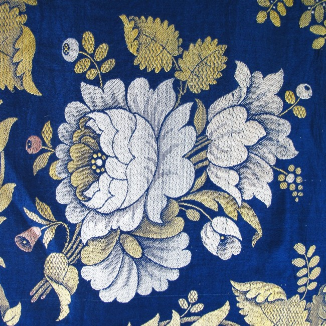 Detail from a 19th century Spitalfields silk shawl