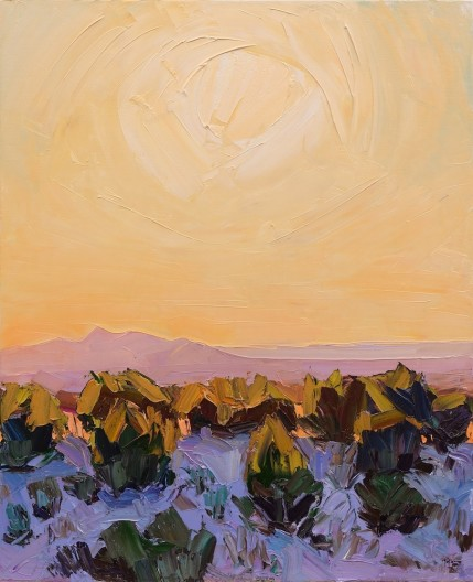 Santa Fe Overlook #5, Low Sun Falling