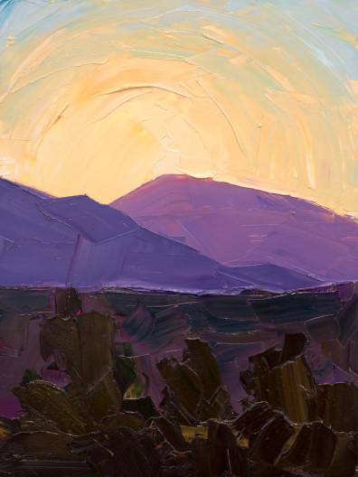 Jivan Lee, Illuminated Ridges 3- Lavender and Blue