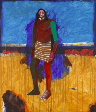 Fritz Scholder, Afternoon on the Plains, 1995